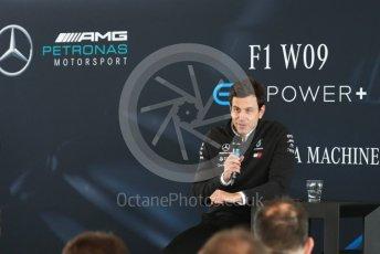 World © Octane Photographic Ltd. Formula 1 –. Mercedes AMG Petronas Motorsport AMG F1 W09 EQ Power+ launch, Toto Wolff (Team Principal and CEO) – Silverstone, UK. Thursday 22nd February 2018. Digital Ref : 2020CB1D7855