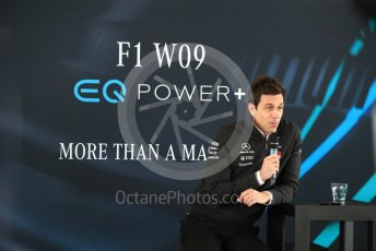 World © Octane Photographic Ltd. Formula 1 –. Mercedes AMG Petronas Motorsport AMG F1 W09 EQ Power+ launch, Toto Wolff (Team Principal and CEO) – Silverstone, UK. Thursday 22nd February 2018. Digital Ref : 2020CB1D7860