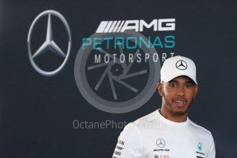 World © Octane Photographic Ltd. Formula 1 –. Mercedes AMG Petronas Motorsport AMG F1 W09 EQ Power+ launch, Lewis Hamilton – Silverstone, UK. Thursday 22nd February 2018. Digital Ref : 2020LB1D7893