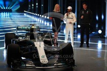 World © Octane Photographic Ltd. Formula 1 –. Mercedes AMG Petronas Motorsport AMG F1 W09 EQ Power+ launch, Lewis Hamilton and Toto Wolff (Team Principal and CEO) – Silverstone, UK. Thursday 22nd February 2018. Digital Ref :2020LB1D8086