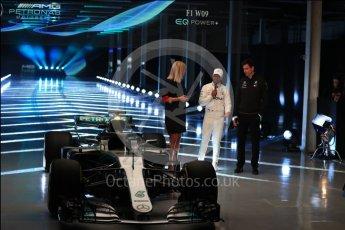 World © Octane Photographic Ltd. Formula 1 –. Mercedes AMG Petronas Motorsport AMG F1 W09 EQ Power+ launch, Lewis Hamilton and Toto Wolff (Team Principal and CEO) – Silverstone, UK. Thursday 22nd February 2018. Digital Ref :2020LB1D8089
