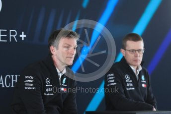 World © Octane Photographic Ltd. Formula 1 –. Mercedes AMG Petronas Motorsport AMG F1 W09 EQ Power+ launch, James Allison (Technical Director) and Andy Cowell (Managing Director of Mercedes AMG High Performance Powertrains) – Silverstone, UK. Thursday 22nd February 2018. Digital Ref : 2020LB1D8271