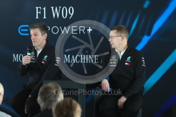 World © Octane Photographic Ltd. Formula 1 –. Mercedes AMG Petronas Motorsport AMG F1 W09 EQ Power+ launch, James Allison (Technical Director) and Andy Cowell (Managing Director of Mercedes AMG High Performance Powertrains) – Silverstone, UK. Thursday 22nd February 2018. Digital Ref : 2020LB1D8281