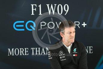 World © Octane Photographic Ltd. Formula 1 –. Mercedes AMG Petronas Motorsport AMG F1 W09 EQ Power+ launch, James Allison (Technical Director) – Silverstone, UK. Thursday 22nd February 2018. Digital Ref : 2020LB1D8287