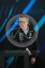 World © Octane Photographic Ltd. Formula 1 –. Mercedes AMG Petronas Motorsport AMG F1 W09 EQ Power+ launch, Andy Cowell (Managing Director of Mercedes AMG High Performance Powertrains) – Silverstone, UK. Thursday 22nd February 2018. Digital Ref : 2020LB1D8292