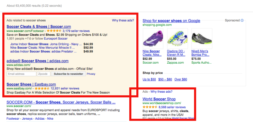 Search Engine Marketing Examples