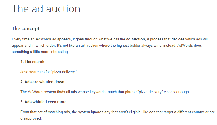 Google's the ad auction