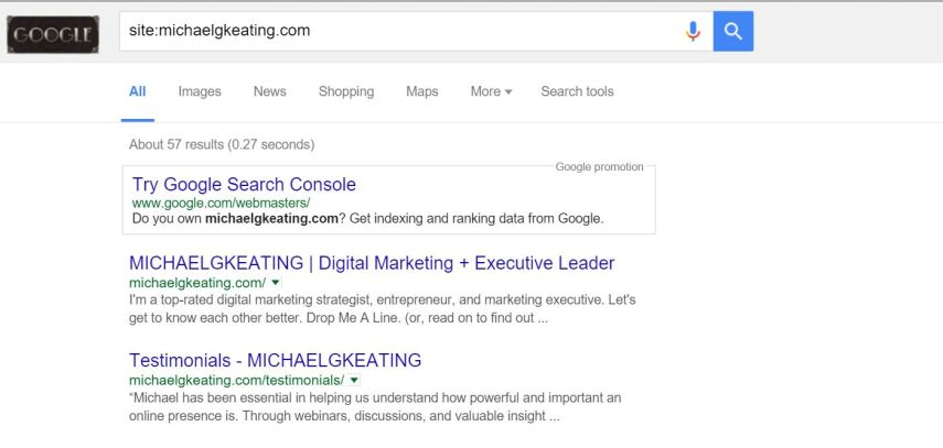 google commands for SEO