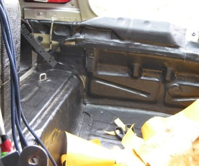 Tlumení kufru vibraflexem Škoda Octavia 32