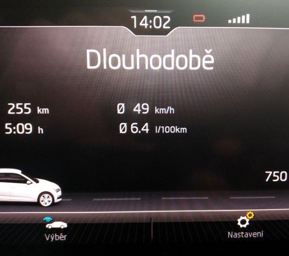 Škoda Scala test recenze spotřeba průměrná rychlost