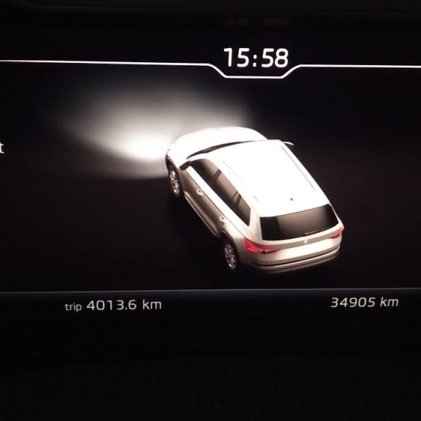 Spotřeba Kodiaqa RS doba jízdy ujetá vzdálenost