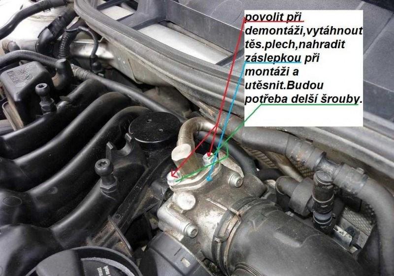 Zaslepení EGR ventilu postup návod 6