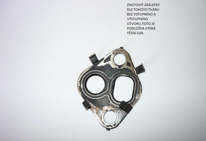 Zaslepení EGR ventilu postup návod 7