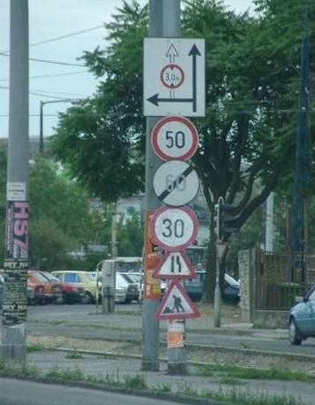 Kombinace dopravních značek v České republice