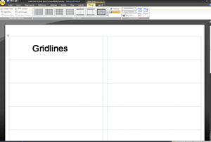 View Label Gridlines or Label Outlines in Office 2007