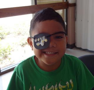 Arr, my eye patch is dripping glue!