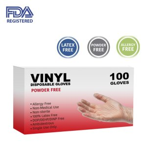 Single-Use Vinyl Gloves 100ct