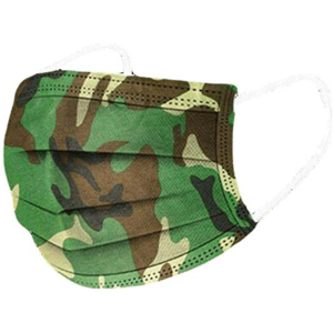 Disposable Protective Face Mask 50ct Box – Green Camouflage