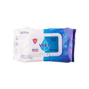 Antibacterial Wipes Soft Pouch 75%Alc 3 Pack
