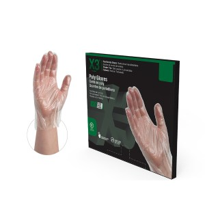 X3 Industrial Grade Poly Gloves Case of 5