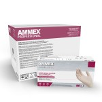 AMMEX Medical Grade Ivory Latex Gloves Case of 5