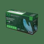 X3 Industrial Blue Nitrile Gloves Case of 5