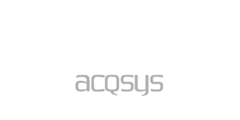 This is a grey-scale logo of acqsys as an example of a client who used Octopus Competitive Intelligence, Due Diligence, Competitor Analysis, Market Analysis, Competitor Research and Strategic Business Development to beat your competitors, increase sales and reduce risk