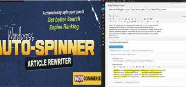 WordPress Auto Spinner Gpl Free Download 2020