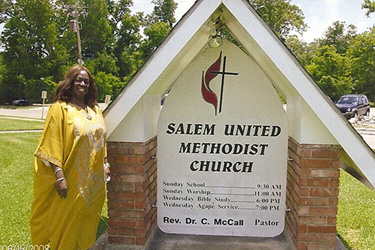 Rev. Carolyn McCall-Livingston, pastor of Salem United Methodist Church