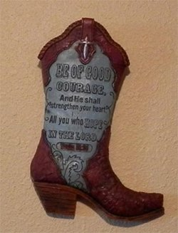 boot wall plaque