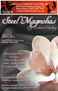 Steel Magnolias begins next month in Orange