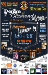 Denim and Diamonds Poster