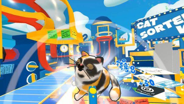 Cat Sorter VR game screenshot courtesy Steam