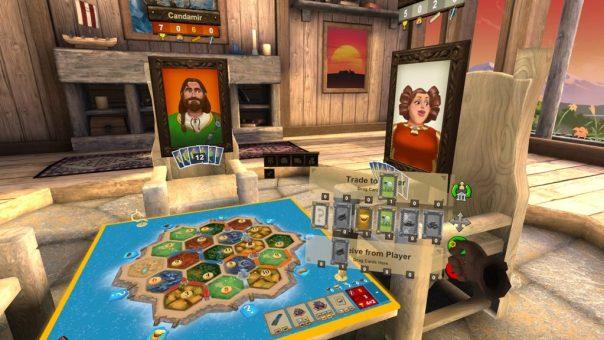 Settlers of Catan - screenshot courtesy Oculus