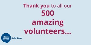 Thank you to all our 500 amazing volunteers