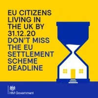 EU Citizens Living in the UK by 31.12.20. Don't miss the EU Settlement Scheme deadline