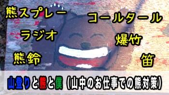 【雑記】山登りと熊と僕(山中のお仕事での熊対策)