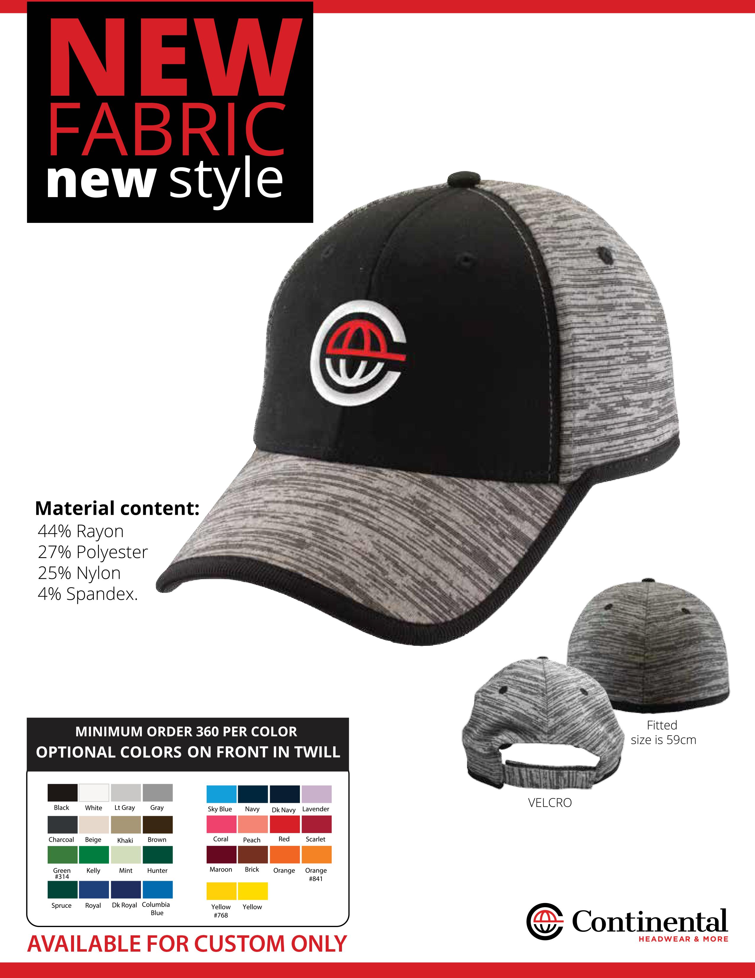 continental headwear design your