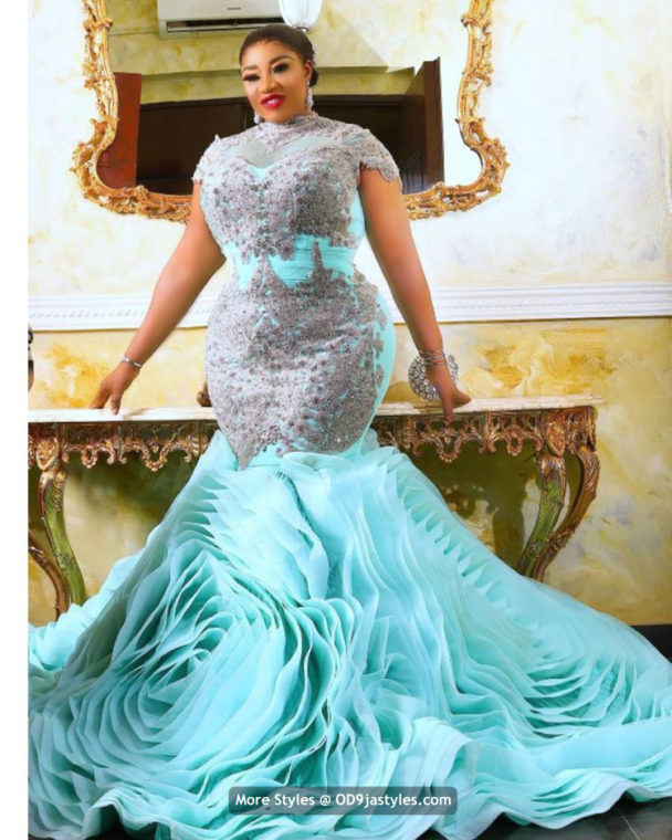 Aso-Ebi Dresses Styles 100 Pictures: Latest Aso-Ebi Dresses Styles 2020 For Pretty Ladies