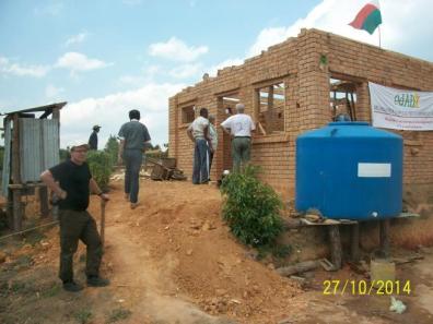 la construction de la cuisine