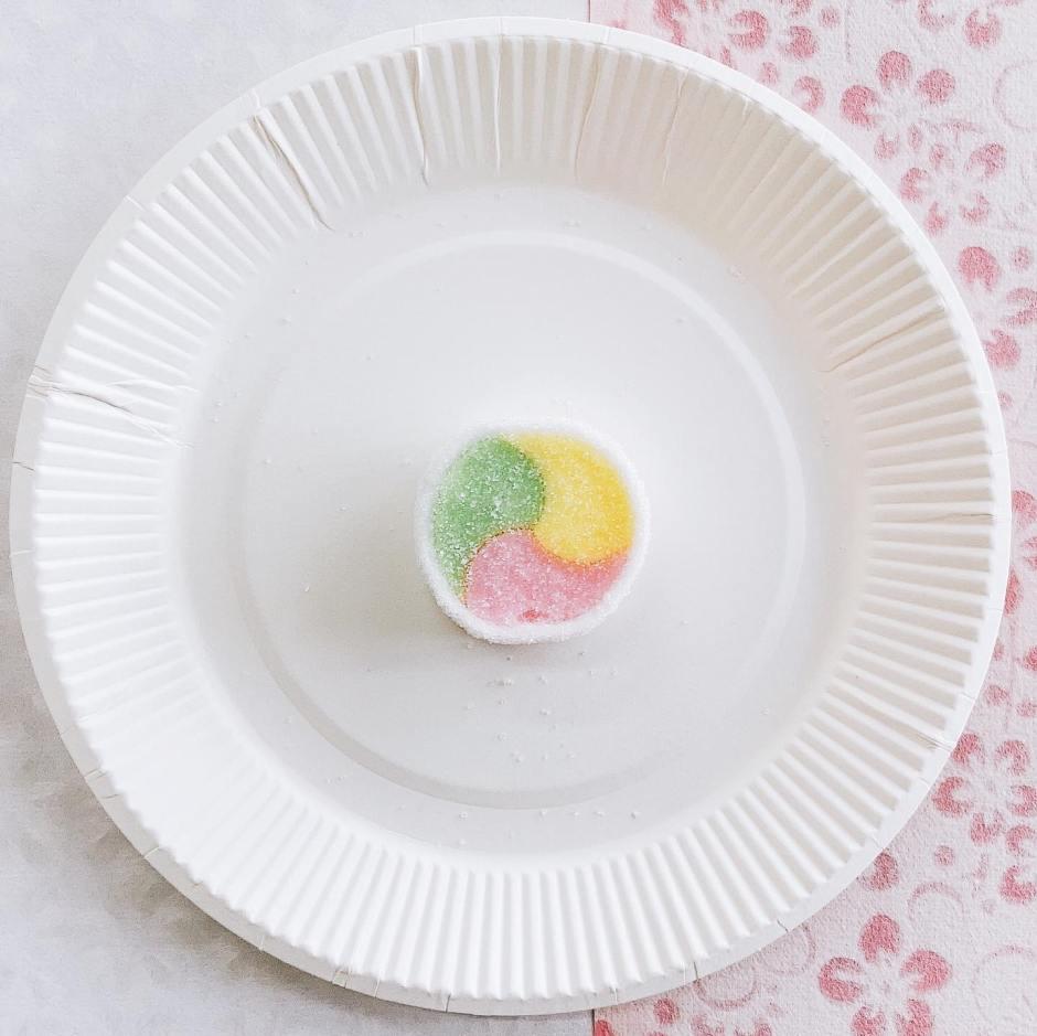 母校で和菓子