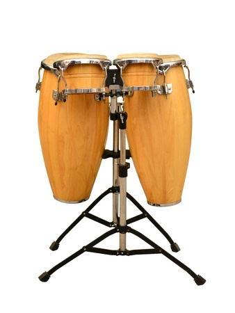 20906724 - conga drum set on white background