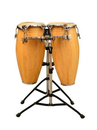 20906724 - conga drum set on white background