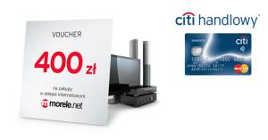 400 zł na zakupy w Morele.net i darmowa Karta Kredytowa Citibank