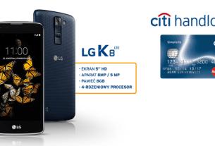 Smartfon LG K8 LTE i darmowa karta Simplicity od Citibank