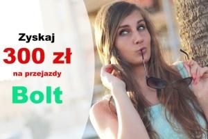 300 zł na przejazdy Bolt z kontem bankowym