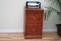 """A-T178 Traditional 2-Drawer Letter File Cabinet, 17 7/8""""W ..."""