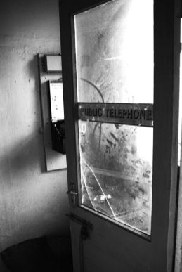 This phone booth is gone now