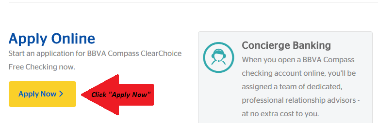 Apply for BBVA Compass FreeChoice Checking Account