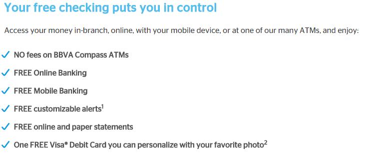 Checking Account Benefits